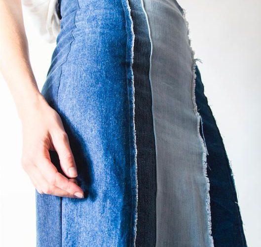 ADOPTAUNAPRENDa colección de prendas denim trasformadas