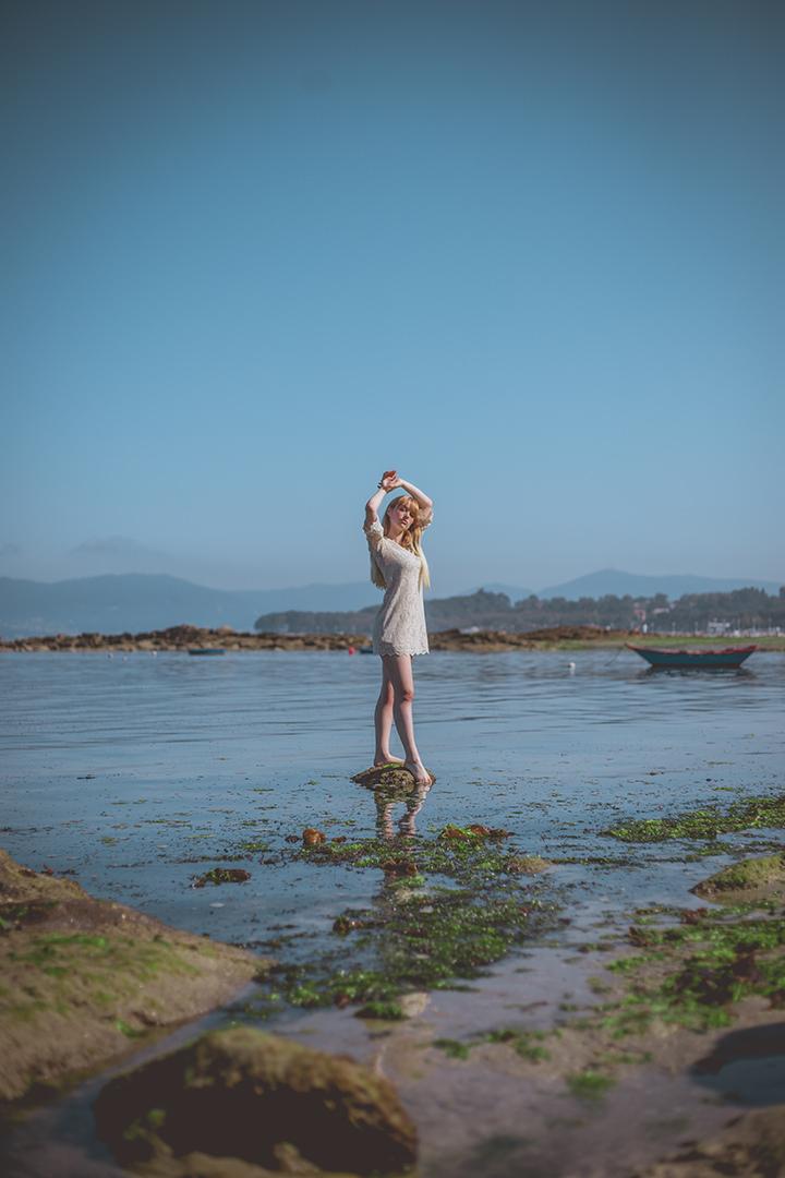 Sesión de fotografías en la playa de ADOPTAUNAPRENDA
