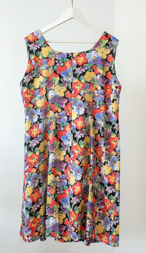 Vestido vintage de flores Paula