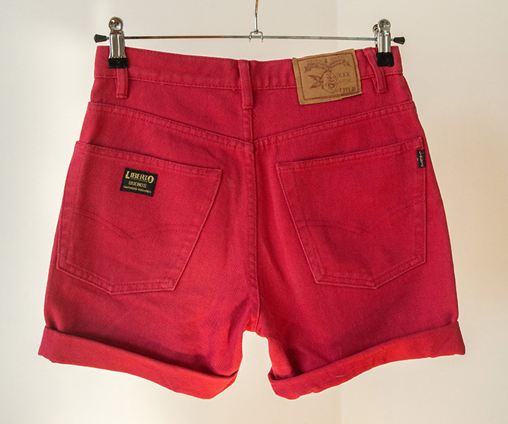 shorts denim rojos
