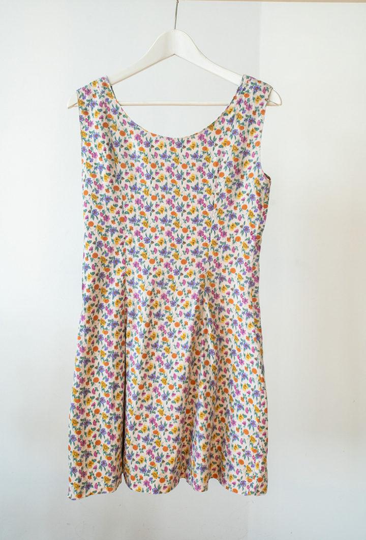 vestido de flores hecho a mano