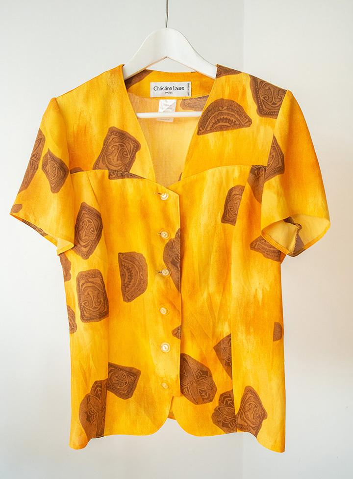 Camisa vintage ocre