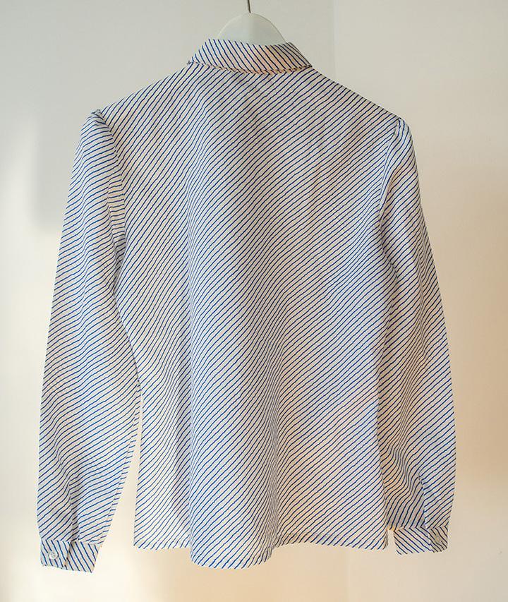 Camisa vintage rayas azules
